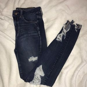 American Eagle Ripped Jeans - Dark Wash